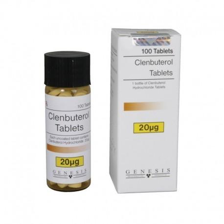 Clenbuterolo cloridrato, 20 mcg/scheda (100 compresse), Genesi