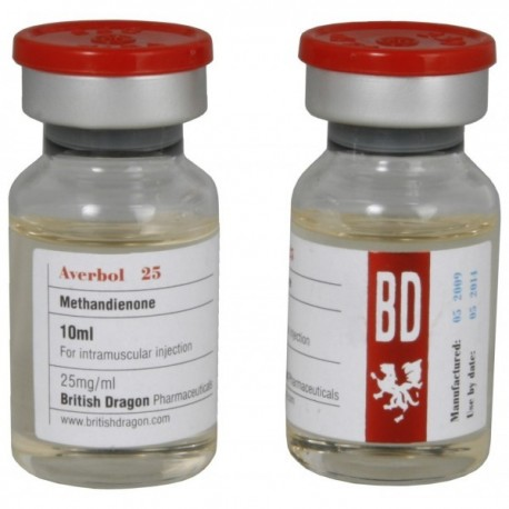 Averbol 25 (British Dragon) 25 mg/ml (injectable methandienone)